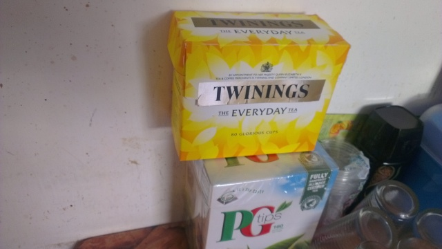My favorite tea bags, Twinings and PG. My supply from UK is over and I am missing them. My cousin always send me. It makes my day go super awesome and I am addicted to the strong tea.