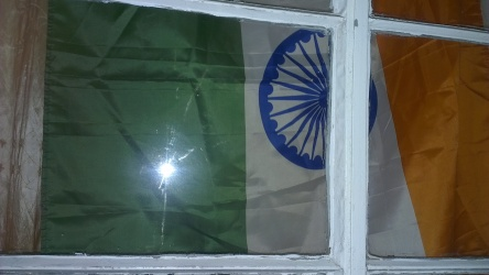 The Indian flag was proudly placed on the window pane at home on August 15.