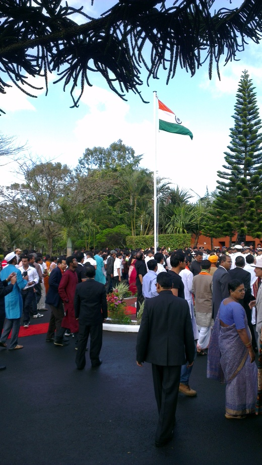 Huge crowd of Indian expats gathered during the morning on I-Day