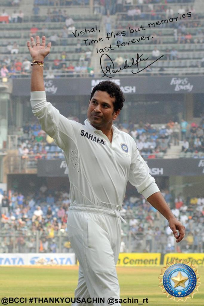 Sachin autograph