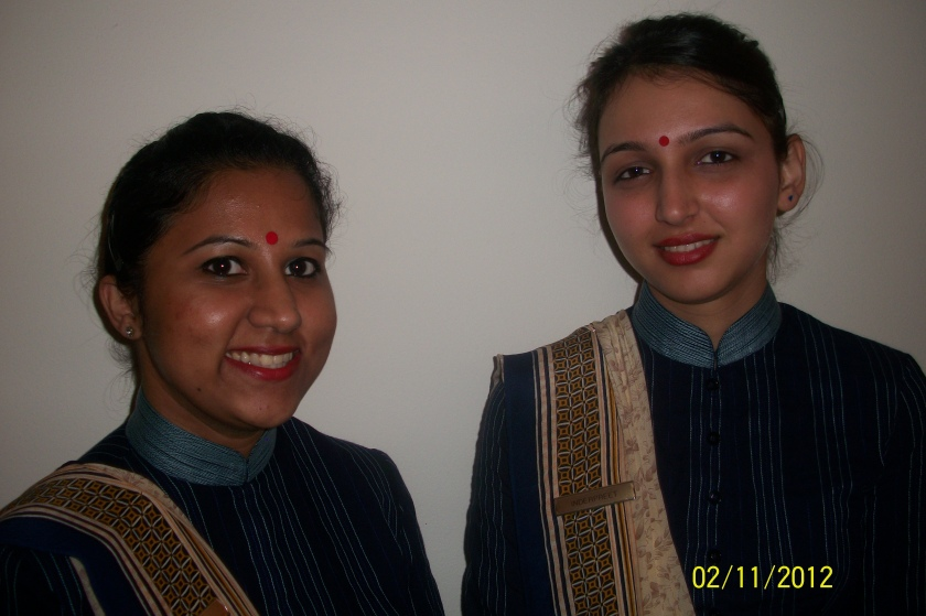 Two graceful ladies at Trident and, among which, Inderpreet (right) welcomed me.