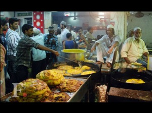 Food during Eid at Mohammed Ali Road