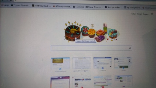 When Google wished me Happy budday