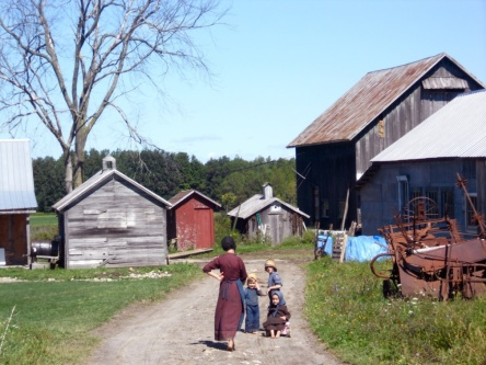 Amish family living a much different life than most of us. Everyone has their own truth.