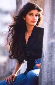 Mehroo as a young model.
