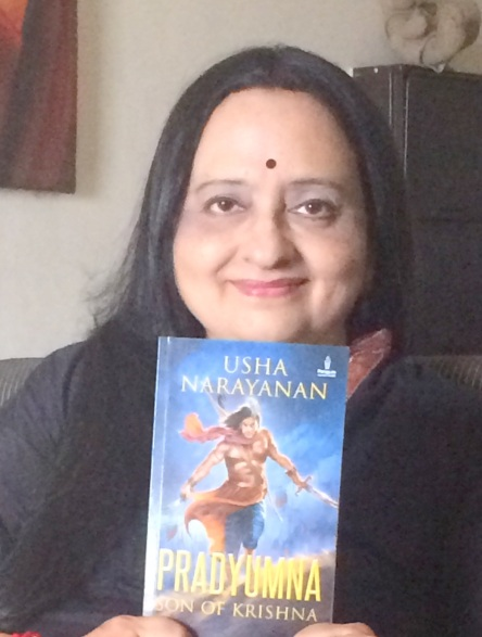 Usha Narayanan with her book, Pradyumna-son of Krishna.