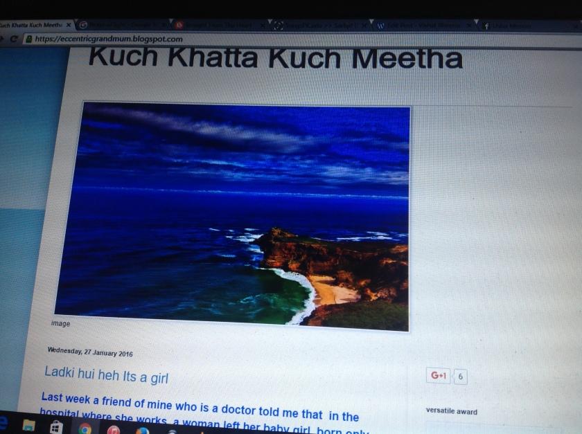 Usha Ma'am blog Kuch Khatta Kuch Meetha/https://eccentricgrandmum.blogspot.com/