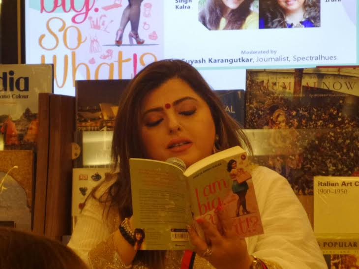 Film and Television celebrity at a book reading session.