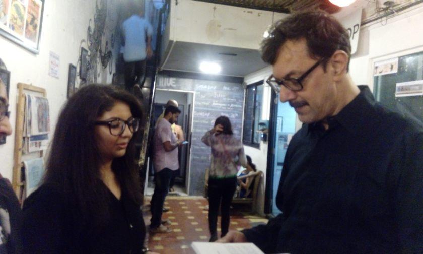 Author Dr Nikita Lalwani with actor-director Rajat Kapoor
