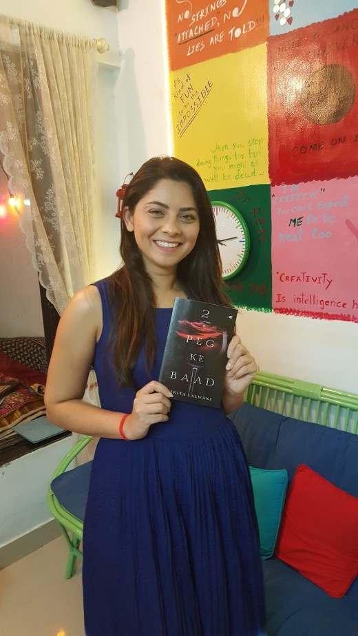 Sonalee Kulkarni in smile with her copy.