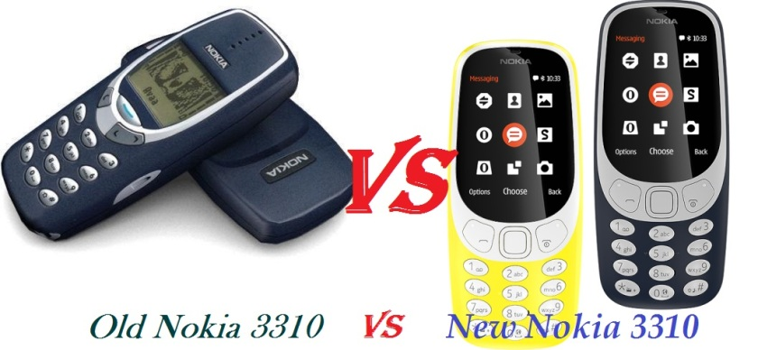 Image sourced from Google: http://www.c4updates.com/wp-content/uploads/2017/02/Old-Nokia-3310-vs-New-Nokia-3310.jpg